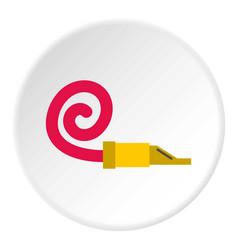 Pipe tongue icon circle vector