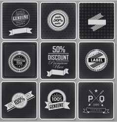 Premium guarantee and sale labels vector