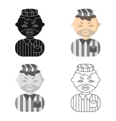 prisoner cartoon icon for web and vector image