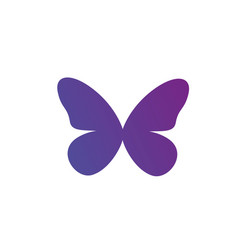 purple gradient butterfly logo icon isolated on vector image