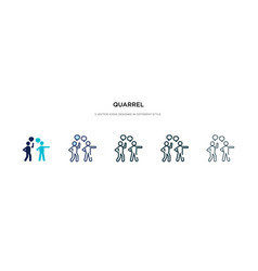 quarrel icon in different style two colored vector image