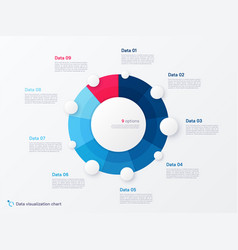 round circle infographic chart template vector image