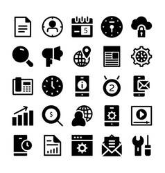 seo and marketing solid icons 2 vector image