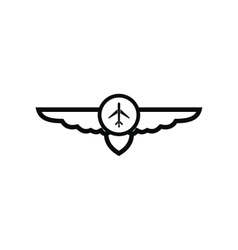 sign airplane with wings icon vector image