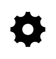 simple black gear icon on white isolated vector image