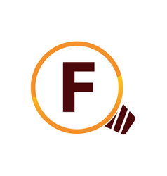 Smart solution letter f vector