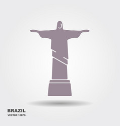 statue of christ vector image