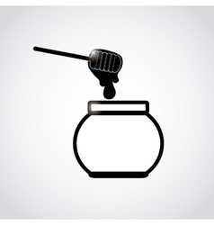 sweet honey design vector image