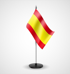 Table flag of Spain vector
