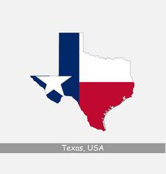 texas usa map flag vector image