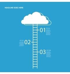 Three steps with Cloud and stairs vector