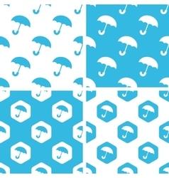 Umbrella patterns set vector
