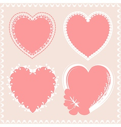 Valentines day hearts design vector image