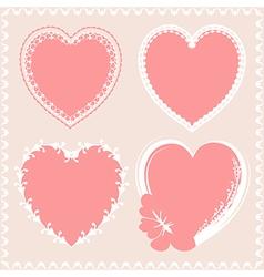 Valentines day hearts design vector