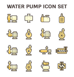Water pump icon vector