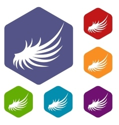 Wing icons set vector image