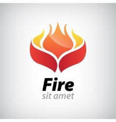 abstract fire icon vector image