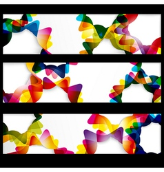 Abstract horizontal banner with forms of empty vector image vector image