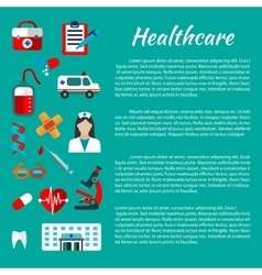 Healthcare and medical poster design vector image vector image