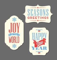 Christmas Holiday tags vintage type design vector image vector image