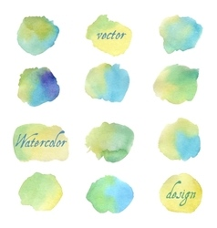 Colorful watercolor splashes isolated on white vector image vector image