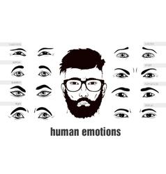 description of human emotions eyes vector image vector image