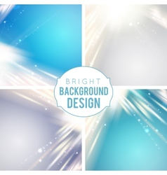 Futuristic blue abstract glowing background vector image