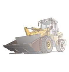 loader / digger illustration vector image