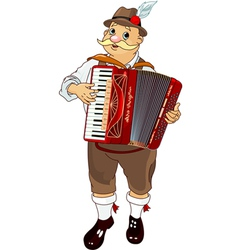 oktoberfest germany musician playing accordion vector image