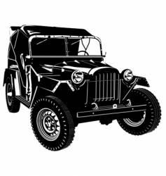 retro army car vector image