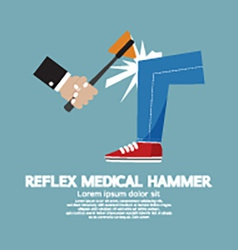 The Neurologist Using A Hammer To Testing Knee vector image