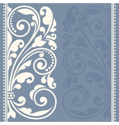 Floral pattern for invitation or greeting card vector image vector image