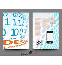 Flyer design template in A4 vector image
