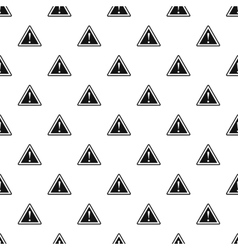 Road sign warning pattern simple style vector