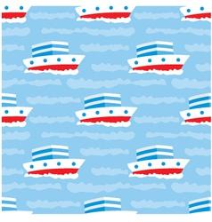 seamless ships pattern vector image vector image