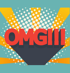 abstract omg background comic book vector image vector image