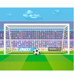 ball at gates on stadium vector image vector image