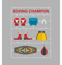 Boxing champion plastic model kits vector
