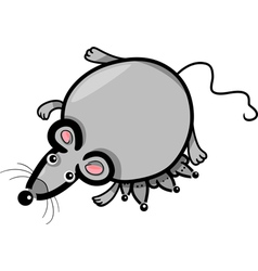 cartoon mouse mother with babies vector image vector image