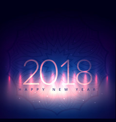 2018 new year card design with light effect vector