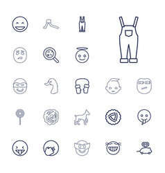 22 cute icons vector