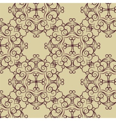 Abstract circular ornament pattern vector image