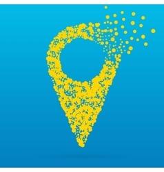 Abstract Creative concept icon of pointer vector