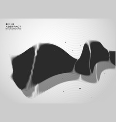 abstract of black and white technology cover vector image