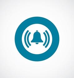 bell icon bold blue circle border vector image