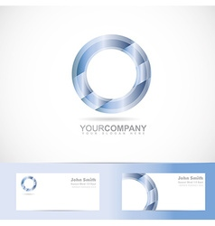 Blue circle logo vector