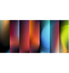 Blurred abstract backgrounds set for vector