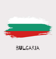 bulgaria watercolor national country flag icon vector image