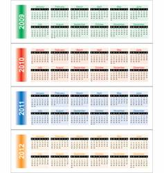 calendar for 2009-2014 vector image