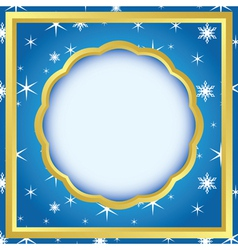 card with pattern with snowflakes vector image